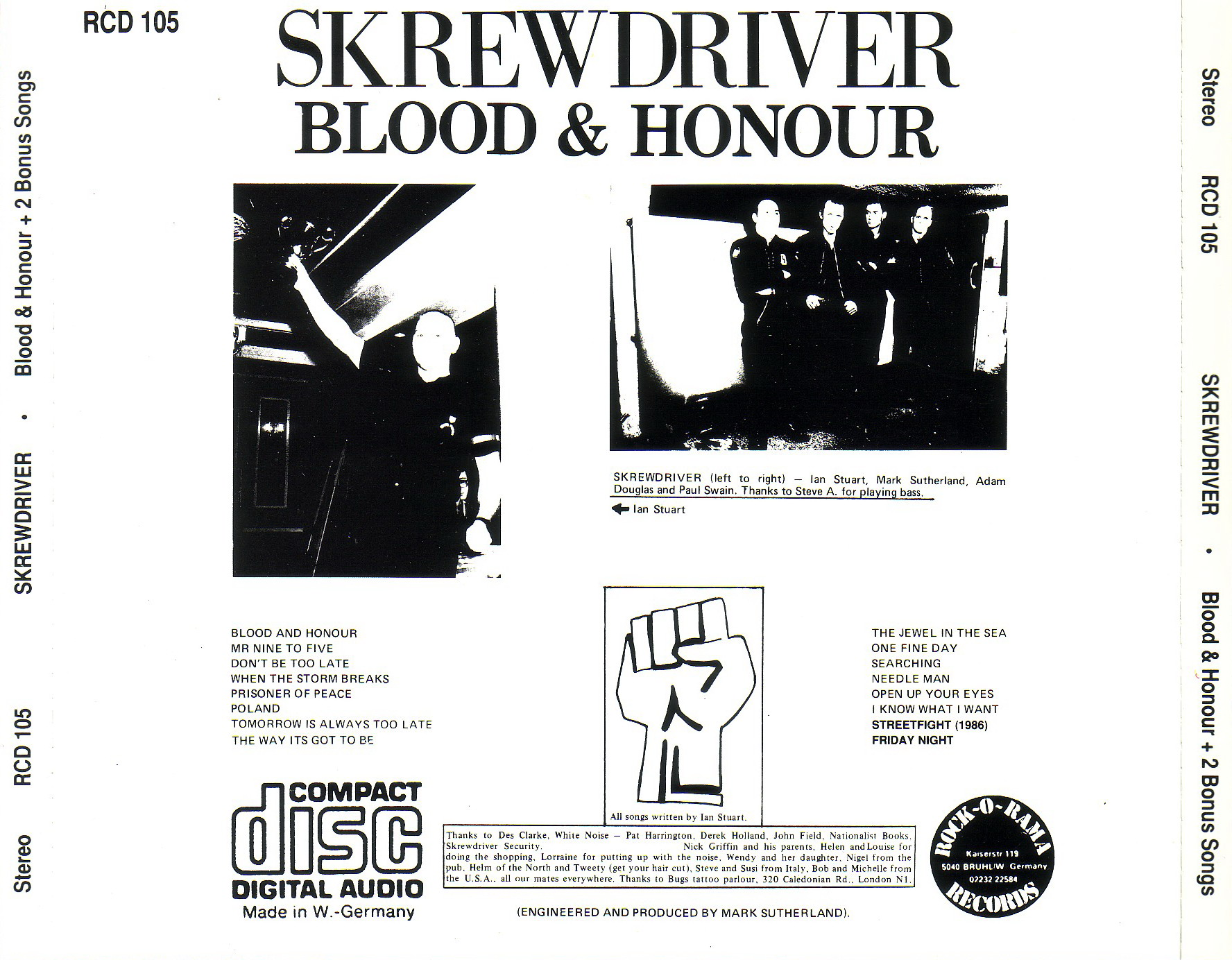Skrewdriver // Blood & Honour : Free Download, Borrow, and ...