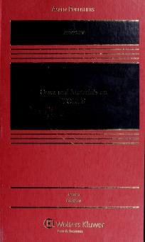 Cover of: Cases and materials on torts   Richard Allen Epstein